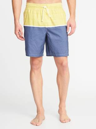 Old Navy Printed Swim Trunks for Men - 8-inch inseam
