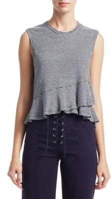 A.L.C. Braxton Striped Linen Tank Top