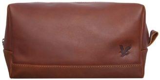 New Mens Brown Leather Wash Bag Washbag