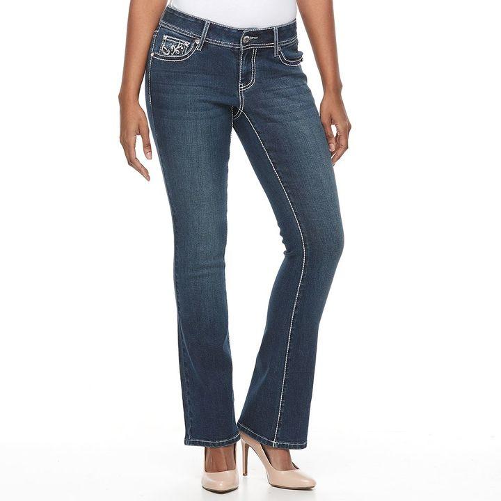 Apt. 9Women's Apt. 9® Contrast Embellished Bootcut Jeans