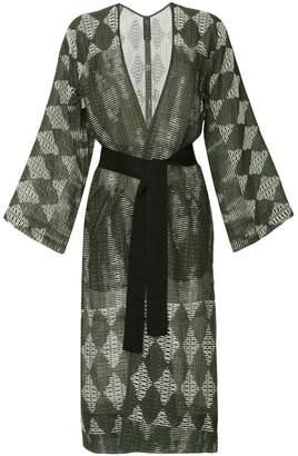 Zero Maria Cornejo belted kimono coat