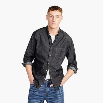 Lightweight denim shirt in black