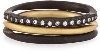 Armenta Old World Midnight Stacking Rings, Set of Three