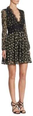 Giambattista Valli Floral Macrame& Lace Dress