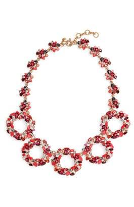 J.Crew Floral Circle Statement Necklace