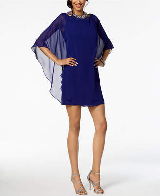 Xscape Evenings Embellished Chiffon-Overlay Dress, Regular & Petite
