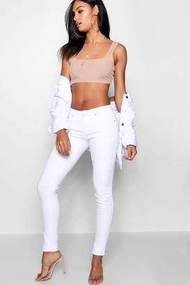boohoo Tall White Skinny Jean