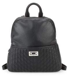 Karl Lagerfeld Paris Quilted Leather Backpack