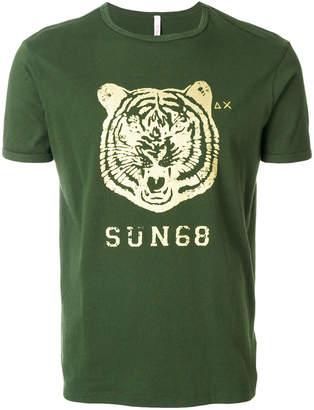 Sun 68 tiger logo T-shirt