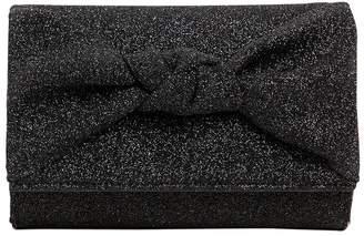 Giuseppe Zanotti Design Glitter Fabric Clutch W/ Knot Detail