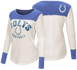 Touch by Alyssa Milano Women's Indianapolis Colts Thermal Long Sleeve T-Shirt