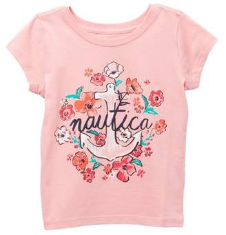 Nautica Floral Anchor Tee (Big Girls)