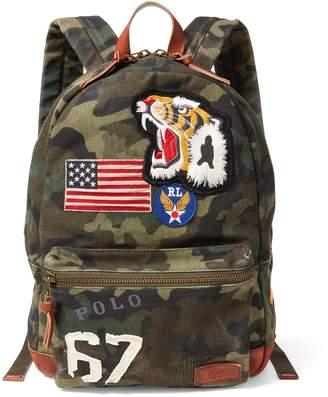 Ralph Lauren Patchwork Camo Canvas Backpack