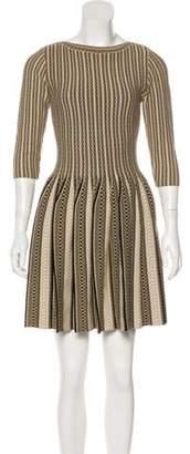 Alaà ̄a Fit & Flare Mini Dress Gold Alaà ̄a Fit & Flare Mini Dress