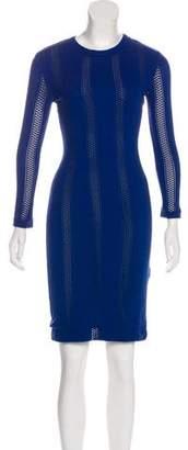 Rag & Bone Knit Three-Quarter-Sleeve Bodycon Dress