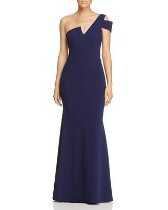Aqua One-Shoulder Ruffled Gown - 100% Exclusive