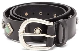 Isabel Marant Studded Leather Belt - Womens - Black