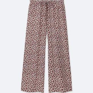 Uniqlo Women's Drape Wide Floral Pants