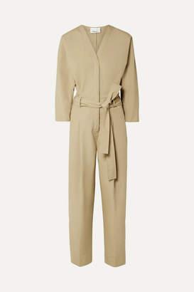 3.1 Phillip Lim Belted Cotton-blend Poplin Jumpsuit - Beige