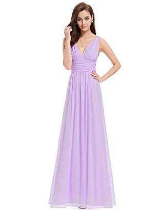 cc837c6d7b Ever-Pretty Women's Sleeveless V-Neck Semi-Formal Maxi Dress ,Size UK