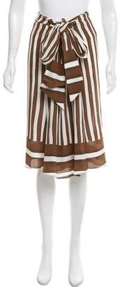 Tome Draped Silk Skirt