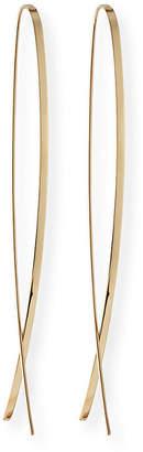 Lana 14k Elite Narrow Upside Down Hoop Earrings