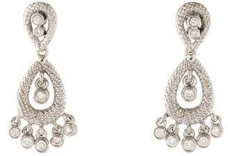 Judith Ripka 18K Diamond Drop Earrings