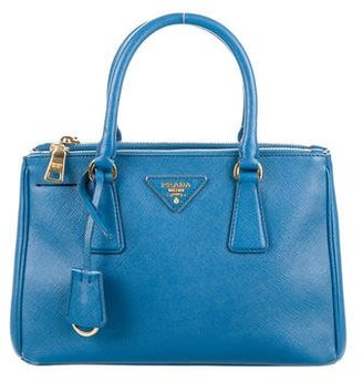 Prada Mini Saffiano Double Zip Satchel $975 thestylecure.com