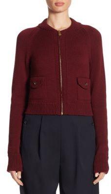 Ralph Lauren Collection Wool Zip-Front Jacket $1,390 thestylecure.com