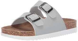 Madden-Girl Women's GOLDIIE Flat Sandal Slate Blue 7.5 M US
