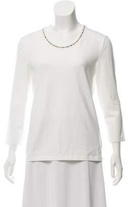 Burberry Three-Quarter Length Sleeve T-Shirt