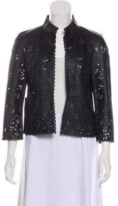 Chanel Laser Cut Leather Jacket