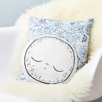 Little Cloud Sleepy Moon Music Box Cushion, Liberty Adelajda Blue