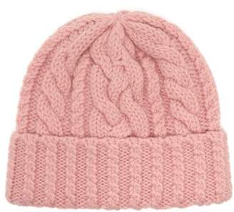 Ami Cable Knit Wool Beanie Hat - Mens - Pink