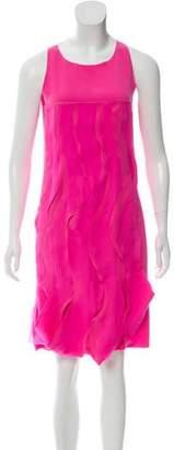 Bottega Veneta Ruffled-Tiered Appliqué Dress