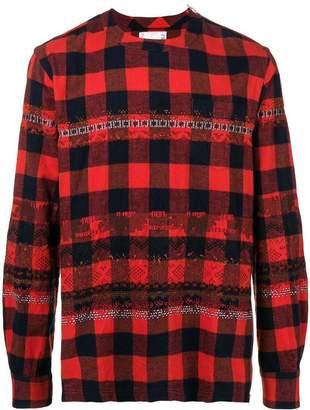 Sacai checkered printed shirt