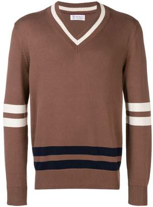 Brunello Cucinelli v-neck knitted sweater