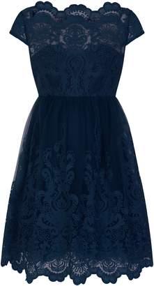 8d69f44d0 Evans   Chi Chi London NavyBlue Lace Skater Dress