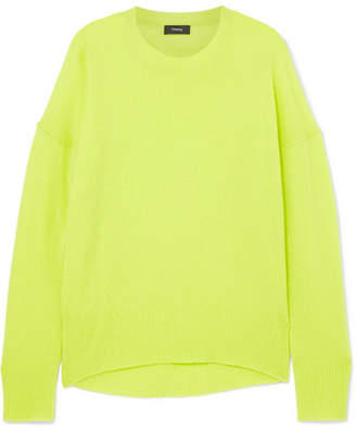 Theory Karenia Cashmere Sweater - Yellow