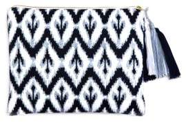 Sky Ikat Embroidered Pouch - 100% Exclusive