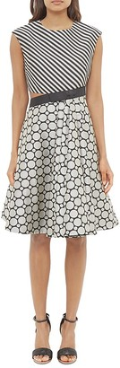 Ted Baker Mixed Print Cutout Dress $465 thestylecure.com