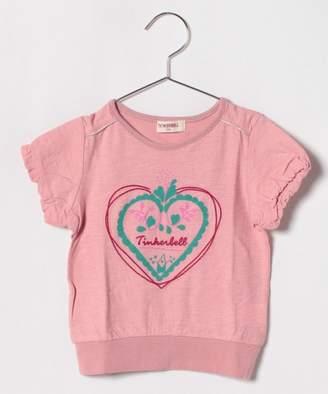 Tinkerbell 女ハートモチーフTシャツ(130〜140cm)