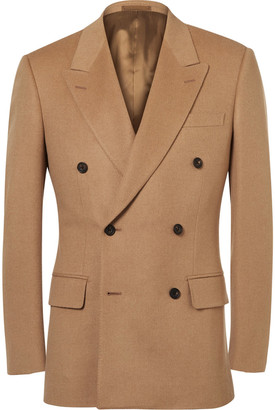 Kingsman Sand Slim-Fit Double-Breasted Baby Camel Hair Blazer $1,595 thestylecure.com