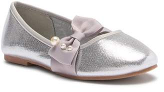 Tahari Faux Pearl Bow Ballet Flat (Toddler & Little Kid)