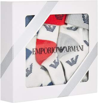 Emporio Armani Logo Socks (Pack of 3)