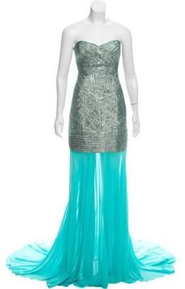 John Paul Ataker Matelassé Metallic Dress w/ Tags