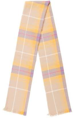 Barneys New York Barney's New York Woven Plaid Scarf