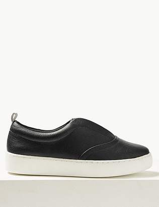 Marks and Spencer Extra Wide Fit Slip-on Trainers