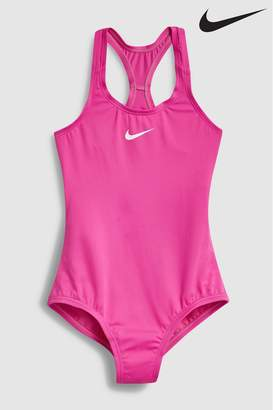 a41fa4d2ee7 Nike Girls Racer Back Swoosh Swimsuit - Pink