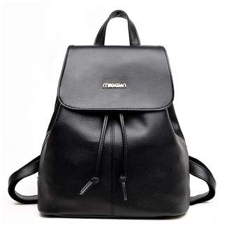1457d89fead8 Shein Faux Leather Drawstring Flap Backpack